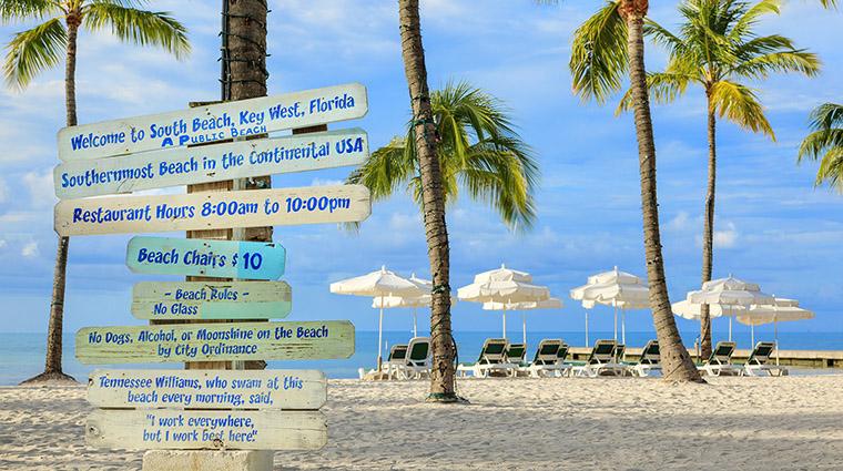 Property SouthernmostBeachResort Hotel PublicSpaces BeachSigns SouthernmostBeachResort