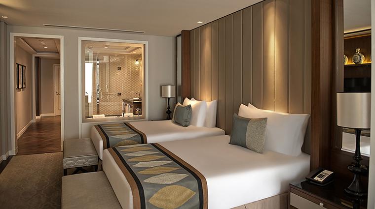 Property TajDubai Hotel GuestroomSuite LuxuryFamilyRoomCityViewTwinBedroom TajHotelsResortsandPalaces