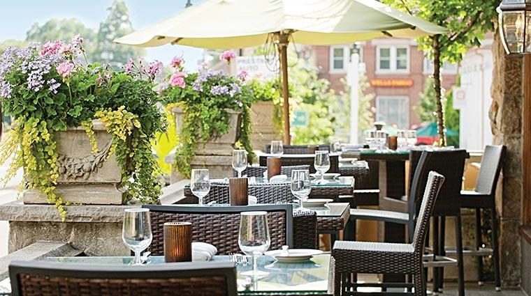 Property TheBernardsInnRestaurant Restaurant Dining OutdoorTerrace CreditTheBernardsInn