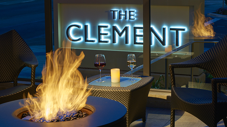 Property TheClementHotel Hotel PublicSpaces TheTerraceFirepit TheClementHotel