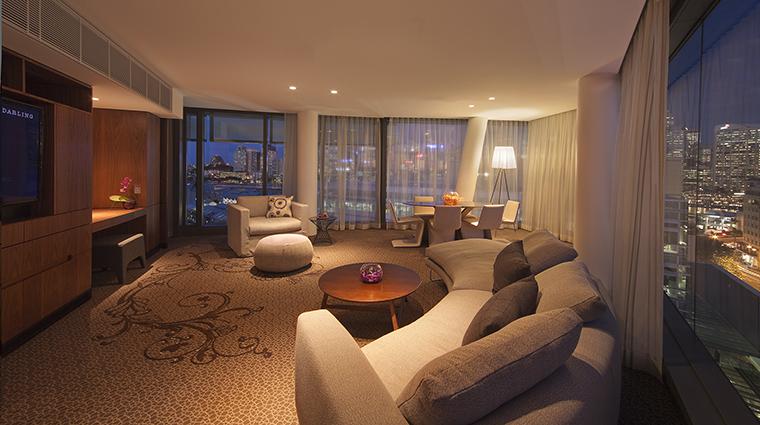 Property TheDarlingHotelattheStarSydney Hotel GuestroomSuite AdoredSuiteLivingRoom TheStarEntertainmentGroup