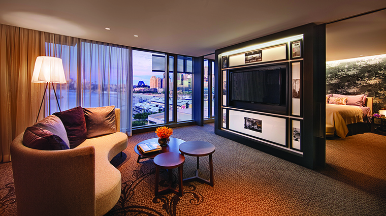 Property TheDarlingHotelattheStarSydney Hotel GuestroomSuite JewelSuiteLivingRoom TheStarEntertainmentGroup
