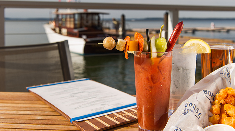 Property TheEdgewater Hotel Dining TheBoathouseBloodyMary&Cheesecurds