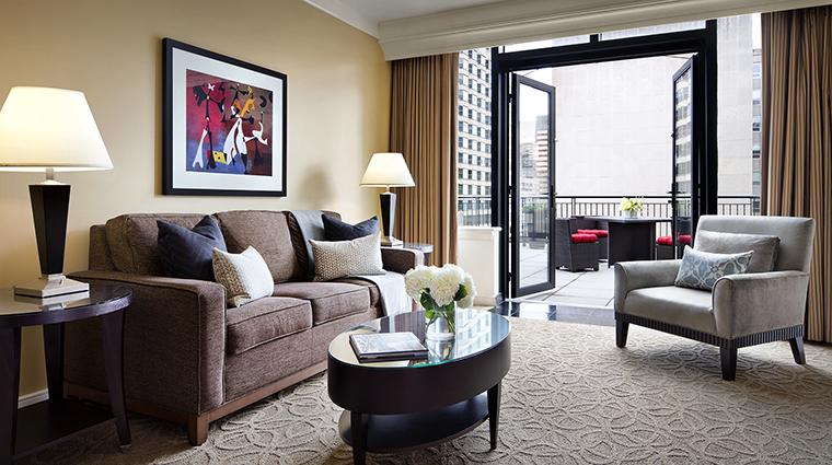 Property TheGwen Hotel GuestroomSuite GrandTerraceLivingRoom StarwoodHotels&ResortsWorldwideInc