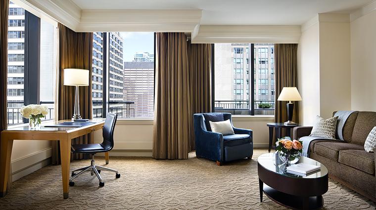 Property TheGwen Hotel GuestroomSuite SuiteLivingRoom StarwoodHotels&ResortsWorldwideInc