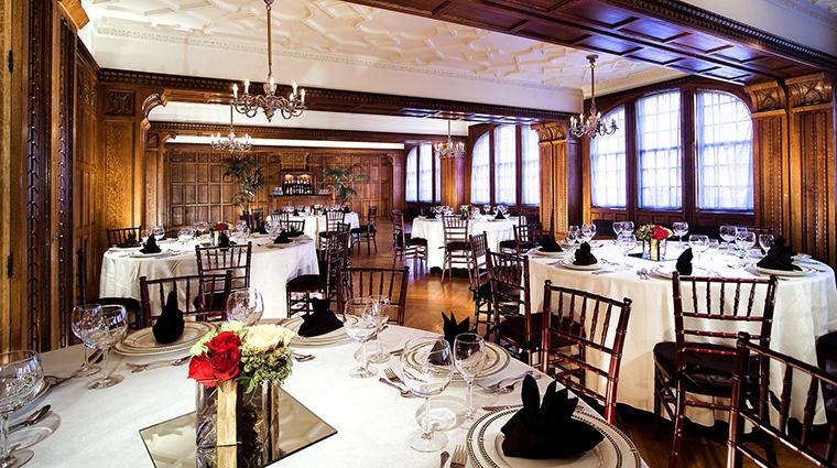 Property TheHistoricDavenportHotel Hotel PublicSpaces ElizabethanRoom MarriottInternationalInc