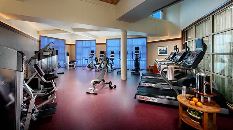 Property TheLodgeatTurningStoneResortCasino Hotel PublicSpaces Gym TurningStoneResortCasino