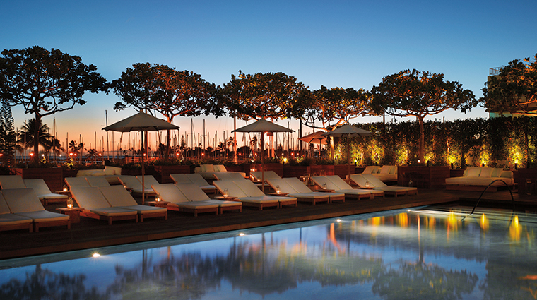 Property TheModernHonolulu Hotel 17 Pool SunrisePoolAtNight CreditTheModernHonolulu