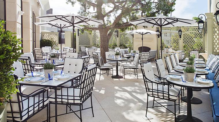 Property ThePeninsulaBeverlyHills Hotel Dining TheBelvedereTerraceDaytime ThePeninsulaHotels