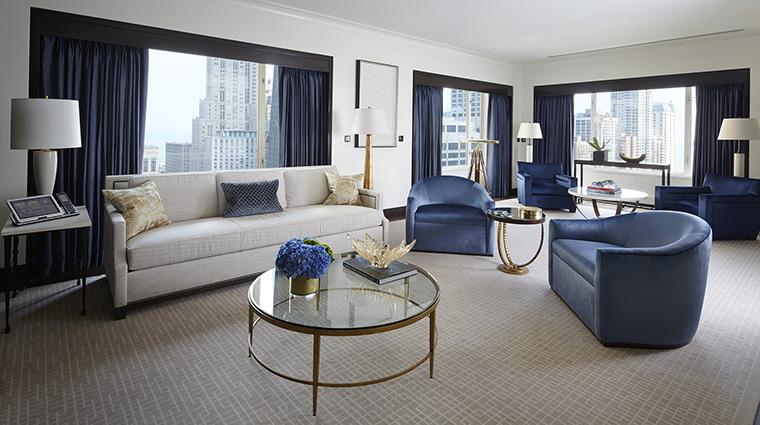 Property ThePeninsulaChicago Hotel GuestroomSuite GrandSuiteLivingRoom ThePeninsulaHotels