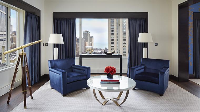 Property ThePeninsulaChicago Hotel GuestroomSuite GrandSuiteLivingRoomSeatingArea ThePeninsulaHotels