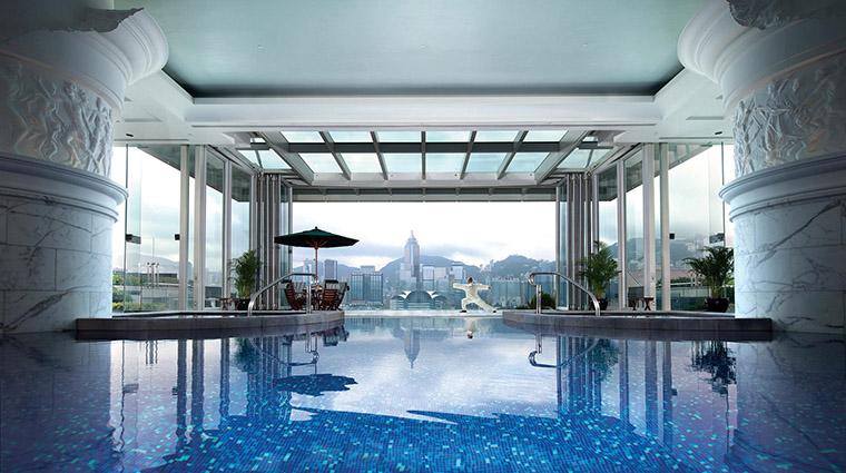 Property ThePeninsulaHongKong Hotel Pool ViewOfVictoriaHarbourFromThePool CreditThePeninsulaHongKong VFMLeonardoInc