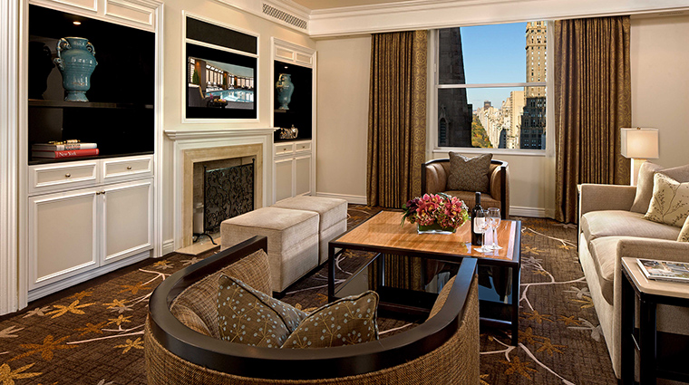 Property ThePeninsulaNewYork Hotel GuestroomSuite GrandSuiteLivingRoom ThePeninsulaHotels