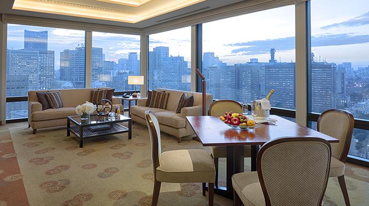 Property ThePeninsulaTokyo Hotel GuestroomSuite DeluxeSuiteDining&LivingArea ThePeninsulaHotels