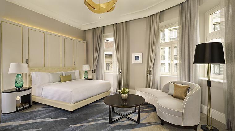 Property TheRitzCarltonBudapest Hotel GuestroomSuite CarltonSuiteBedroom TheRitzCarltonHotelCompanyLLC
