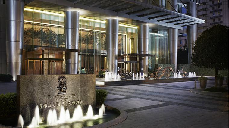 Property TheRitzCarltonChengdu Hotel Exterior PorteCochere TheRitzCarltonHotelCompanyLLC