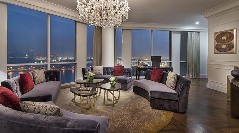 Property TheRitzCarltonDoha Hotel GuestroomSuite AmiriSuiteLivingRoom TheRitzCarltonHotelCompanyLLC