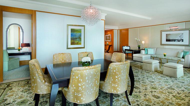 Property TheRitzCarltonDubaiInternationalFinancialCenter Hotel GuestroomSuite SuiteDining&LivingArea TheRitzCarltonHotelCompanyLLC