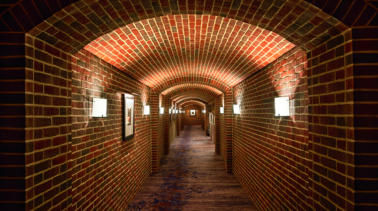 Property TheRitzCarltonGeorgetownWashingtonDC Hotel PublicSpaces HistoricalBrickHallway TheRitzCarltonHotelCompanyLLC
