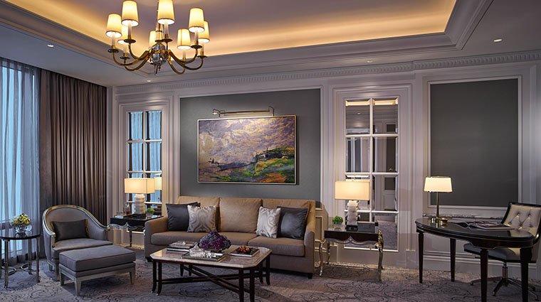 Property TheRitzCarltonMacau Hotel GuestroomSuite CarltonSuiteLivingRoom TheRitzCarltonHotelCompanyLLC