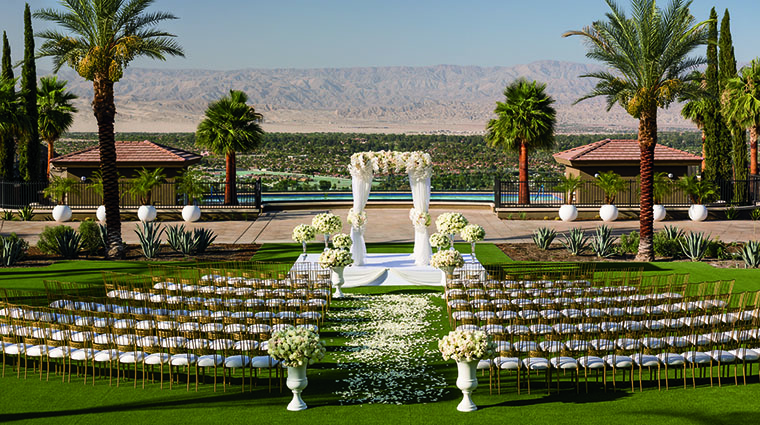 Property TheRitzCarltonRanchoMirage Hotel PublicSpaces OutdoorWeddingSetup TheRitzCarltonHotelCompanyLLC