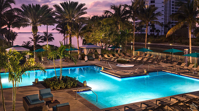 Property TheRitzCarltonSarasota Hotel PublicSpaces PoolDusk TheRitzCarltonHotelCompanyLLC