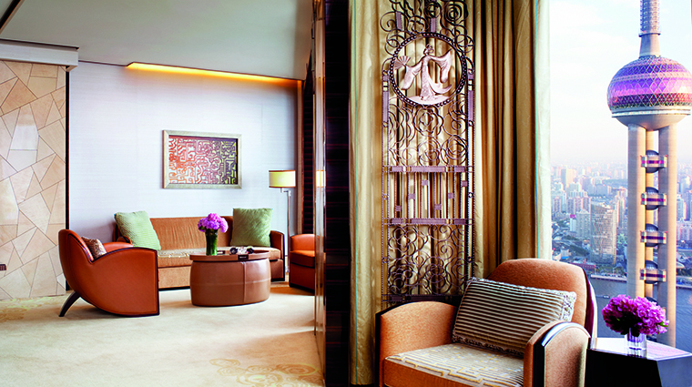 Property TheRitzCarltonShanghaiPudong Hotel GuestroomSuite CarltonSuite TheRitzCarltonHotelCompanyLLC