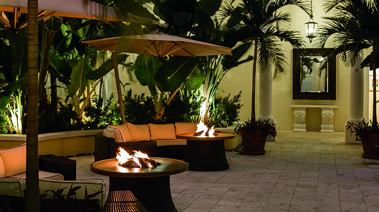 Property TheRitzCarltonStThomas Hotel PublicSpaces PatiowithFirepits TheRitzCarltonHotelCompanyLLC