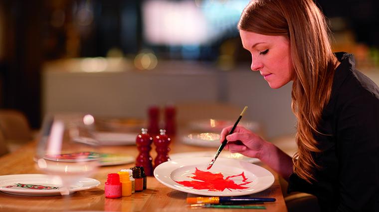 Property TheRitzCarltonToronto Hotel Dining TOCAPlatePainting TheRitzCarltonHotelCompanyLLC