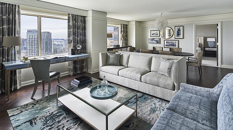 Property TheRitzCarltonTysonsCorner Hotel GuestroomSuite FairfaxSuiteLiving&DiningArea TheRitzCarltonHotelCompanyLLC