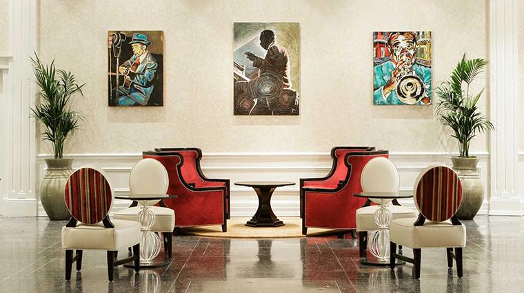 Property TheRooseveltNewOrleans Hotel BarLounge TeddysCafe HiltonWorldwide