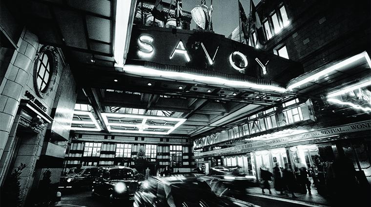 Property TheSavoy Hotel Exterior TheSavoyEntranceBW FRHI