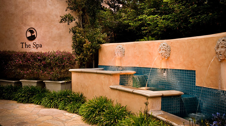 Property TheSpaatPebbleBeach Spa ExteriorwithFountain PebbleBeachCompany