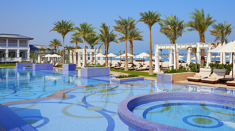 Property TheStRegisAbuDhabi Hotel PublicSapces NationRivieraBeachClubSwimmingPool MarriottInternationalInc