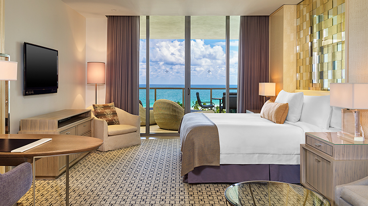 Property TheStRegisBalHarbourResort Hotel GuestroomSuite DeluxeOceanViewBedroom MarriottInternationalInc