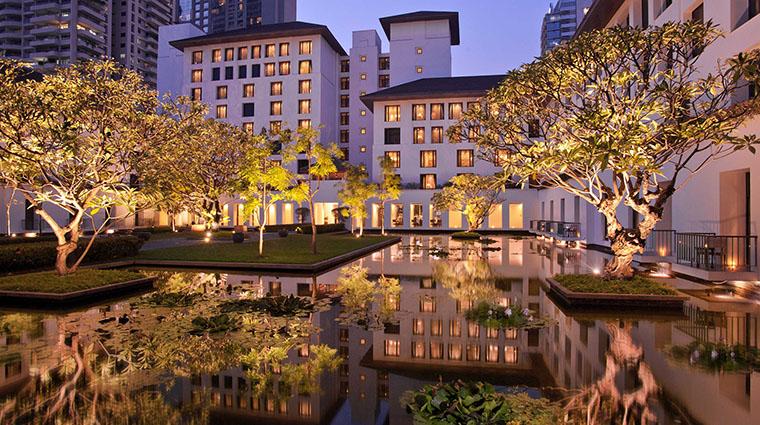 Property TheSukhothaiBangkok Hotel Exterior GardenCourtyardNight TheSukhothaiBangkok