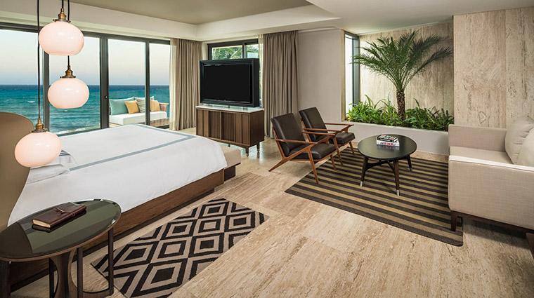 Property ThompsonPlayadelCarmen Hotel GuestroomSuite BeachHousePanoramicCornerSuite ThompsonHotels