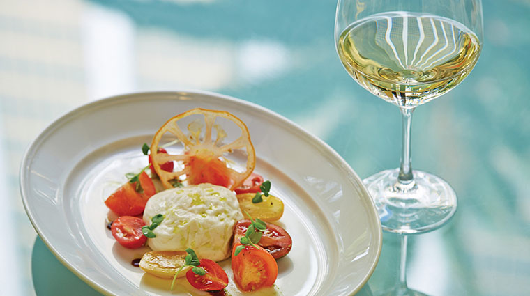 Property VerandaCucinaItaliana Restaurant Dining BurrataCapreseWithWine FourSeasonsHotelsLimited
