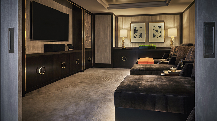 Property ViceroyLErmitageBeverlyHills Hotel GuestroomSuite PresidentialSuiteMediaRoom ViceroyHotelGroup
