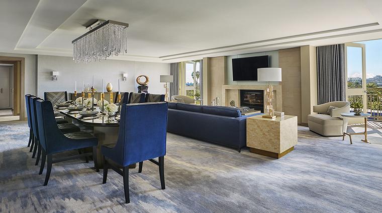 Property ViceroyLErmitageBeverlyHills Hotel GuestroomSuite RoyalSuiteLivingRoom ViceroyHotelGroup