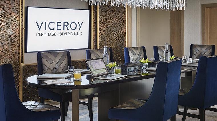 Property ViceroyLErmitageBeverlyHills Hotel GuestroomSuite RoyalSuiteMeetingSpace ViceroyHotelGroup