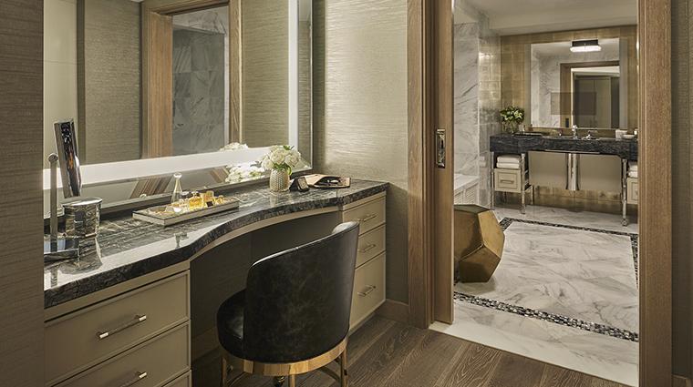 Property ViceroyLErmitageBeverlyHills Hotel GuestroomSuite RoyalSuiteVanity ViceroyHotelGroup