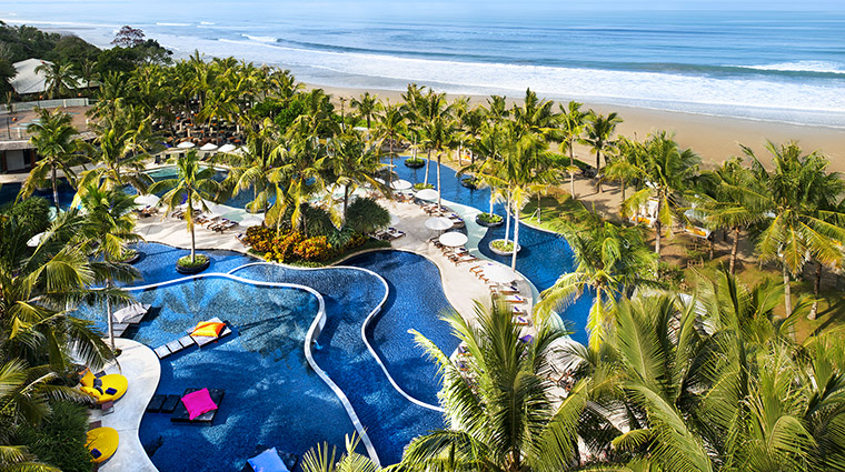 Property WRetreat&SpaBaliSeminyak Hotel PublicSpaces AerialViewofPool MarriottInternationalInc