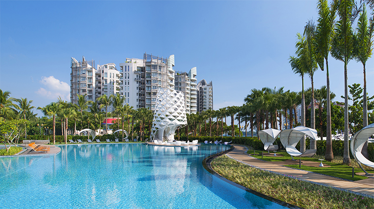 Property WSingaporeSentosaCove 4 Hotel Pool WETPool CreditStarwoodHotelsandResotsWorldwideInc