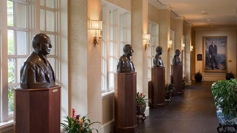 Property WashingtonDukeInn Hotel PublicSpaces HallwayStatues WashingtonDukeInn