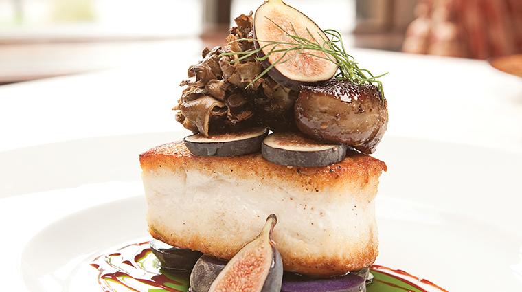 PropertyImage GreenRoom 2 Restaurant Style Food Halibut CreditHotelduPont