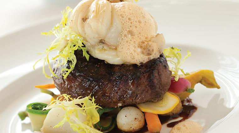 PropertyImage GreenRoom 3 Restaurant Style Food SurfnTurf CreditHotelduPont