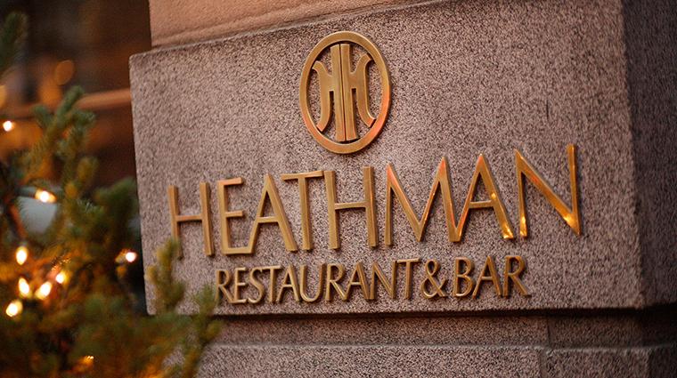 PropertyImage TheHeathmanHotel Hotel Restaurant Dining Sign CreditTheHeathmanHotel