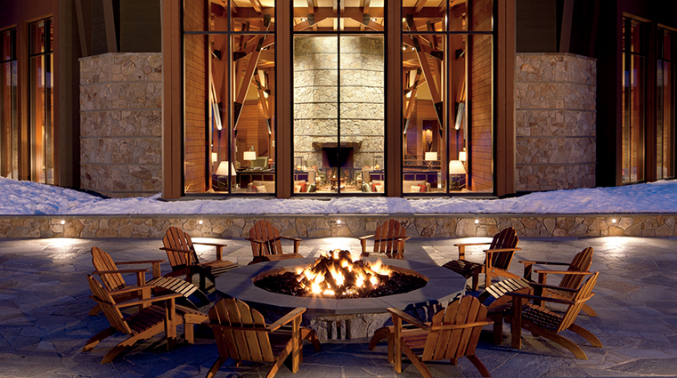 PropertyImage TheRitz CarltonLakeTahoe Hotel 6 Exterior OutdoorFirepit CreditDonRiddle