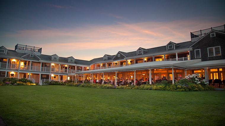 PropertyImage WhiteElephantHotel Hotel 6 Restaurant BrantPointGrill RestaurantatDusk CreditNantucketIslandResort
